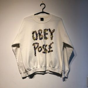 Obey Posse Floral Crew Neck Sweater